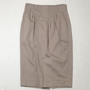 Body By Victoria Gathered Long Pencil Skirt Sz8